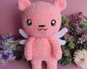 Amigurumi Sakura's Teddy Bear of Shaoran, furniture, plushie , teddy bear pink, sakura card captor