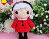 Pattern Amigurumi Sabrina PDF TUTORIAL - Crochet PATTERN Sabrina Spellman, Doll red dress