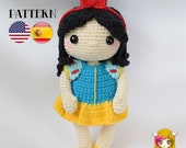 Pattern Amigurumi Snow White PDF TUTORIAL - Crochet PATTERN Snow White