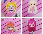 Stickers Sailor Moon, Nyu Elfen Lied, Chii Chobits, Sakura Card Captor, vinyl sticker