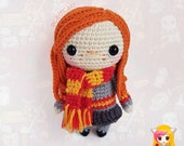 Pattern Ginny Weasley, PDF Crochet Pattern, Tutorial amigurumi, doll