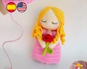 Pattern Amigurumi Sleeping Beauty PDF TUTORIAL - Crochet PATTERN Princess, Aurora
