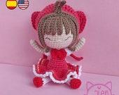 Pattern Amigurumi Sakura - Amigurumi Sakura Card Captor PDF TUTORIAL - Crochet PATTERN, Anime Doll Magical Girl, Mahō shōjo Galencaixe