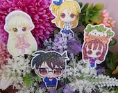 Sticker Case Closed Detective Conan, Chii Chobits, Daisy Mae Animal Crossing, Lucy Heartfilia Fairy Tail, sticker holographic, Holo sticker