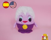 Pattern Amigurumi Ursula Villains Disney PDF TUTORIAL - Crochet PATTERN Ursula villainous The little mermaid