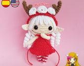 Amigurumi Duendecilla PDF TUTORIAL - Crochet PATTERN Duendecilla Christmas Elf, Doll Elf, Sprite Deer Pixie