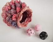bag scale dragon, crochet bag, dragon egg, bag for dice, rol