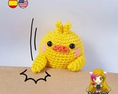 Pattern Amigurumi Yellow Chick PDF TUTORIAL - Crochet PATTERN Yellow Chick Piu Piu Molang