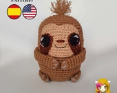Patrón crochet Perezoso - Amigurumi Manolito Perezoso PDF TUTORIAL - Crochet PATTERN Sloth