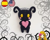 Pattern Amigurumi Heartless PDF TUTORIAL - Crochet PATTERN Heartless, Sincorazon, Kingdom Hearts