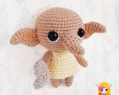 Pattern Dobby, PDF Crochet Pattern, Tutorial amigurumi, doll