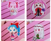 Stickers Black Lady, Madoka Magica, Bulma Dragon Ball, Elf, vinyl sticker