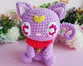 Amigurumi Cat Diana Luna Sailor Moon, crochet doll, Amigurumi kawaii, plushie Diana Sailor Moon, kitty