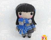 Pattern Cho Chang, PDF Crochet Pattern, Tutorial amigurumi, doll