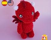 Pattern crochet Xin the Dragon - Amigurumi PDF TUTORIAL - Crochet PATTERN Dragoncito