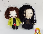 Pack 2 Crochet Pattern Sirius Black and Bellatrix Lestrange, PDF Crochet Pattern, Tutorial amigurumi, doll