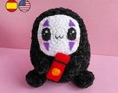 Pattern crochet Doll Anime Movie - Amigurumi PDF TUTORIAL - Crochet PATTERN doll black ball with mask