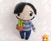 Pattern Neville Longbottom, PDF Crochet Pattern, Tutorial amigurumi, doll