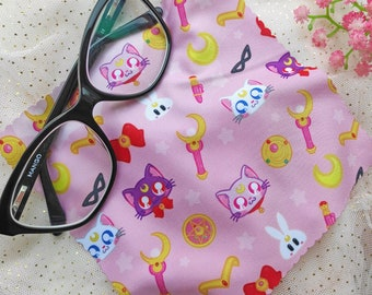 Magical Girls Kawaii Glasses Cloth - Maho Shojo Cute Screen Cleaner microfiber cleaning