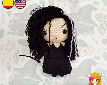 Amigurumi PATTERN crochet doll Bellatrix Wizard Magic crochet pattern- PDF TUTORIAL in English (us terms) and Spanish Galencaixe