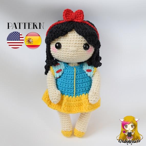 Patrón crochet Blancanieves Amigurumi Snow White pdf | Etsy