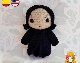 Amigurumi PATTERN crochet doll Severus Wizard Potion Teacher Magic pattern- PDF TUTORIAL in English (us terms) and Spanish Galencaixe Always