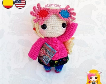 Amigurumi PATTERN crochet doll Luna Witch Student Magic crochet pattern- PDF TUTORIAL in English (us terms) and Spanish Galencaixe