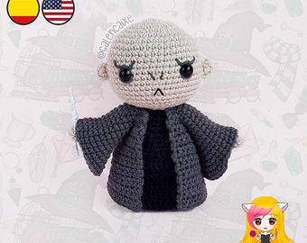 Amigurumi PATTERN crochet doll Lord Dark Wizard Teacher Magic pattern- PDF TUTORIAL in English (us terms) and Spanish Galencaixe