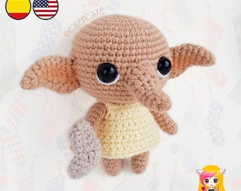 Amigurumi PATTERN crochet doll Free Elf Sock Student Witch crochet pattern- PDF TUTORIAL in English (us terms) and Spanish Galencaixe
