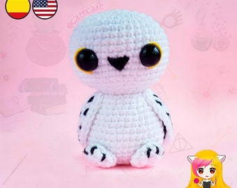 Amigurumi PATTERN crochet doll Owl Student Witch crochet pattern- PDF TUTORIAL in English (us terms) and Spanish Galencaixe