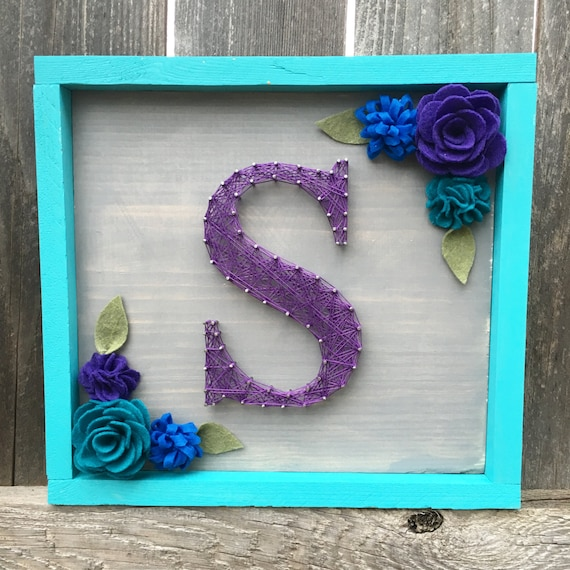 letter a string art items similar to letter initial nail and string wood 9773