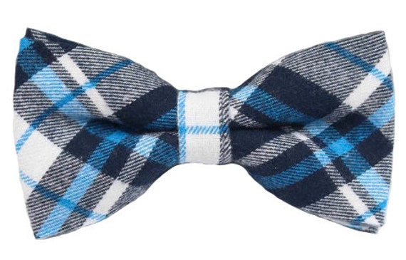 Unisex Tartan Red /& Black Dickie Bow Tie in a Box Fast Post