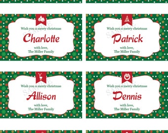 Customized Christmas Gift Tags From Santa Gift Labels Classic | Etsy