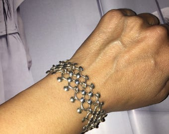 Fancy chain maille bracelet
