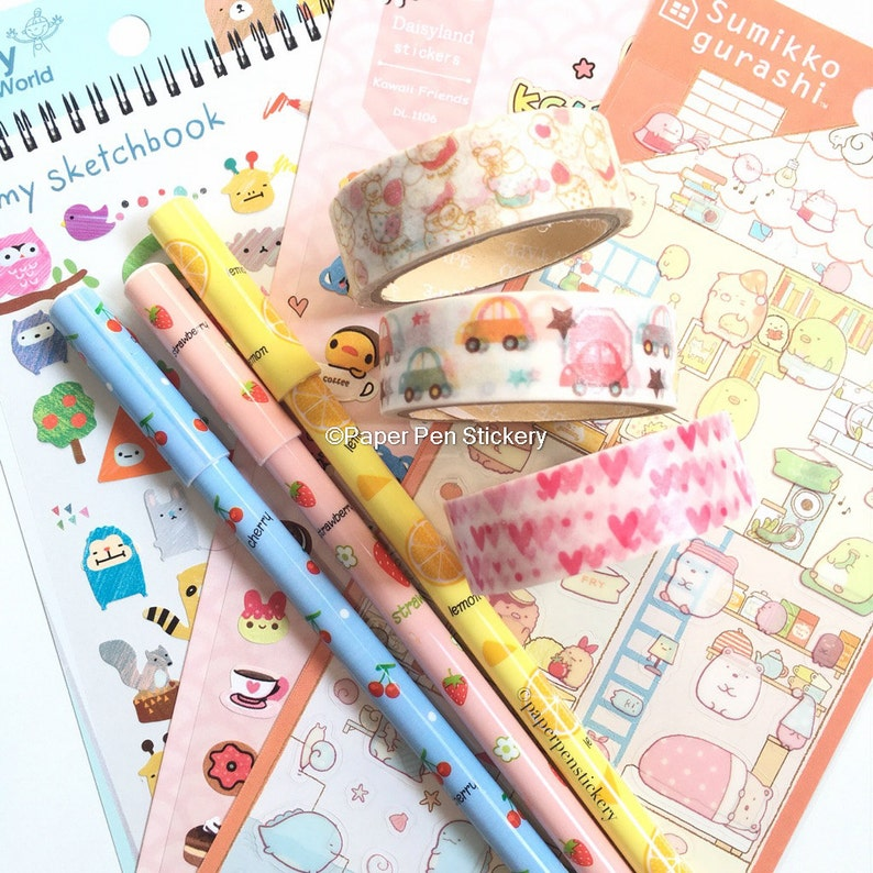 Semi-Glossy MatteTape Kawaii Bunny Planner Decoration Scrapbooking Stationery Supply Birthday Party Card Journal School Masking FSFAAP-3