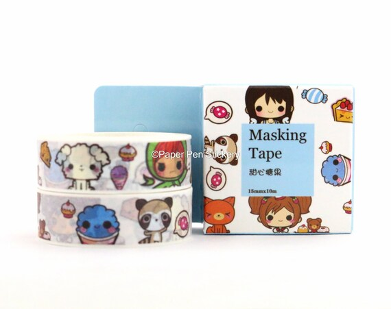 Washi Tape Box Sushi Kawaii Japanese  Dinner Party Food Tape Planner Journal Washi Decoration Scrapbooking Stationery School Supply FXEEAB