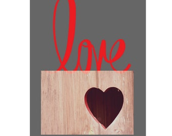 LoveHeart- Whole heartly Love! Printable Download