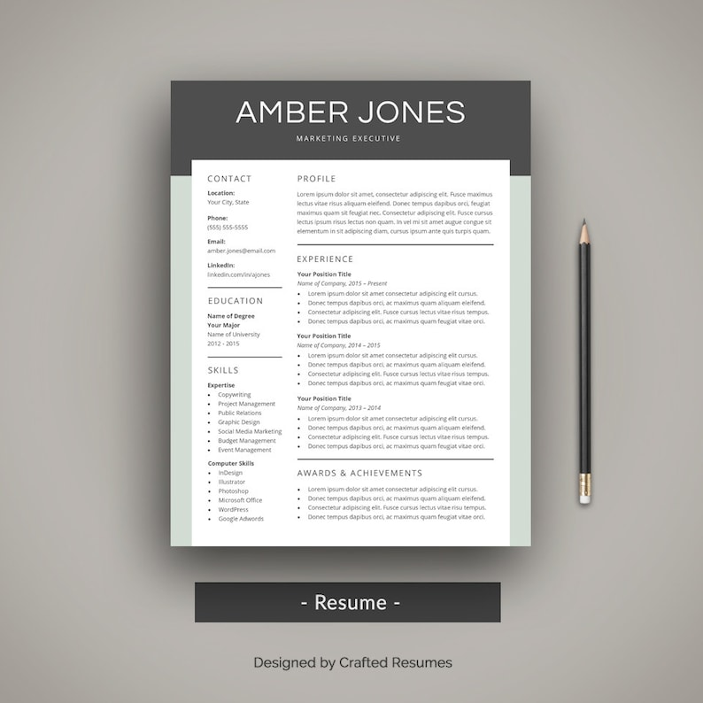 Modern Resume Template Professional CV Creative