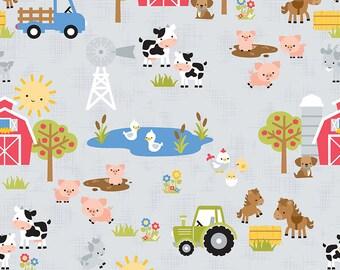 Down on the Farm by Doodlebug Design for Riley Blake Designs - C10070 - Main Gray - 1/2 yard