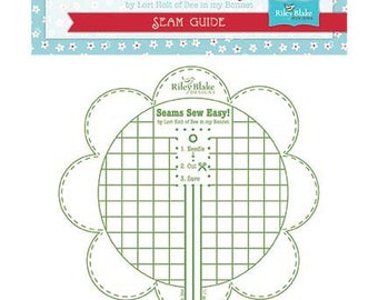 Seams Sew Easy! Seam Guide by Lori Holt for Riley Blake - STSEAMGUIDE - Green