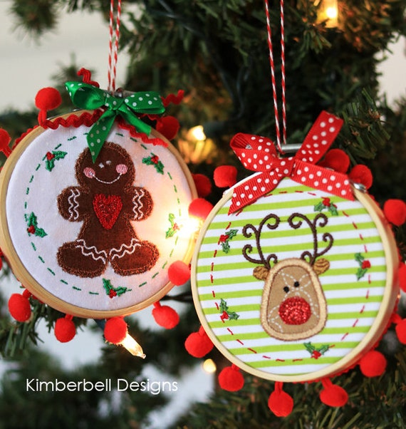 Whimsical Christmas Ornaments.Happy Hoop Decor Vol 1 Whimsical Christmas Ornaments By Kimberbell Machine Embroidery Kd568