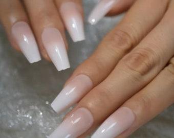 French Fade Nails Etsy