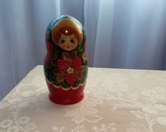 Russian Nesting dolls, Set Of Five Hand Painted Nesting Dolls, Russian Matryoshka Doll