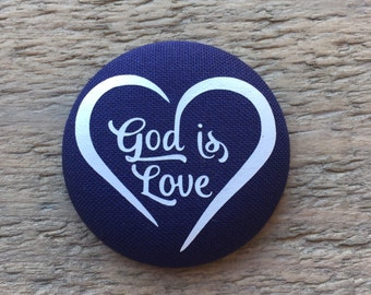 God is Love     - Button Add on