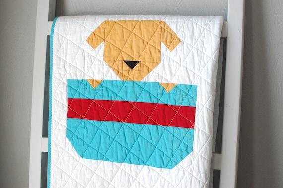 Baby Quilt Puppy Dog Quilt Animal Baby Blanket Heirloom Etsy