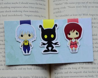 Kingdom hearts magnetic bookmark Riku Kairi Heartless