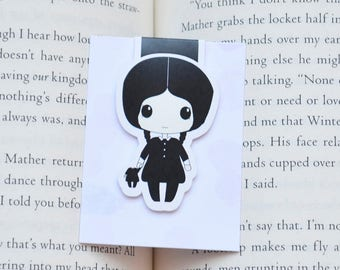 Wednesday magnetic bookmark
