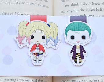 Harley Joker magnetic bookmark