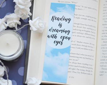 Bookmark Reading is dreaming with open eyes 2