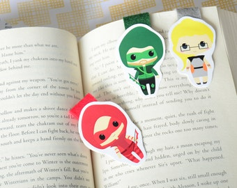 Arrow Felicity Roy Oliver Queen magnetic bookmark